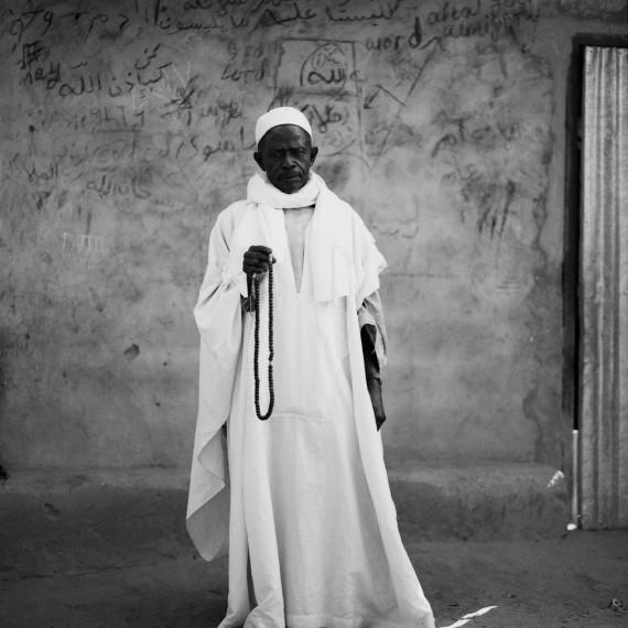Jason Florio - 'The Imam', The Gambia, West Africa. BW portrait of Koranic teacher from Makasutu series