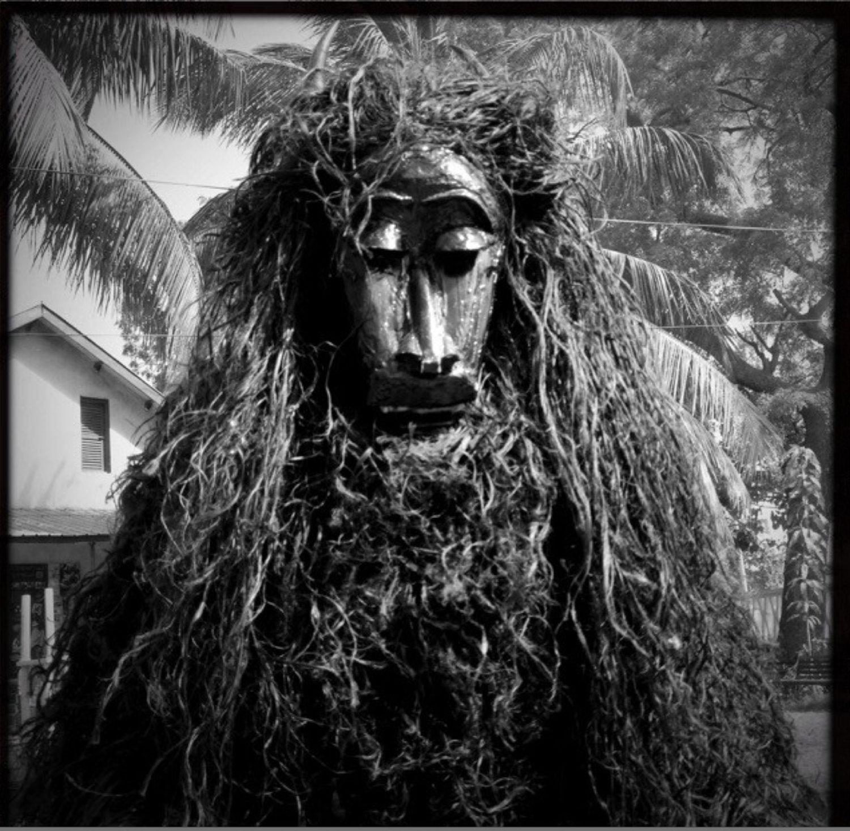 ©Jason Florio 'Agomalah' a traditional masquerade. BW