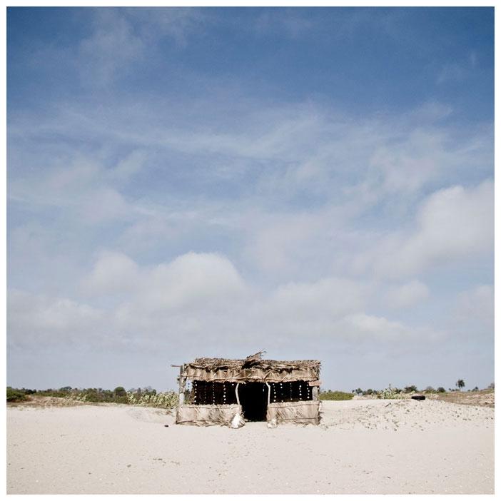 Square Prints Photography Prints'Beach Shack' The Gambia © Helen Jones-Florio