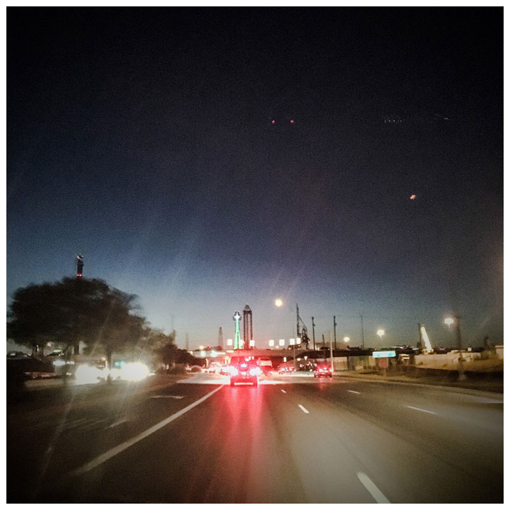 Square Prints Photography Prints 'Dallas Freeway Lights #1' © Helen Jones-Florio