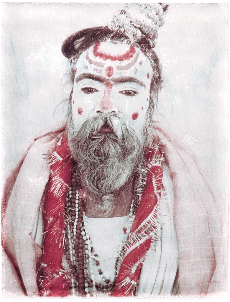 Exhibition News Oskar Landi - Polaroid image of a Sardhu, holy man, India