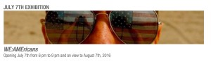 Ken Shung photography - advertisement for WE:AMEricans, Group Exhibition, NYC