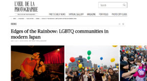 L'oeil de la Photographie - 'Edges of the Rainbow-LGBTQ Japan'New book from HJF Gallery's, Michel Delsol & Haruku Shinozaki