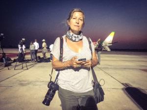Helen Jones-Florio - Banjul airport, waiting for Jammeh to leave Gambia © Jason Florio