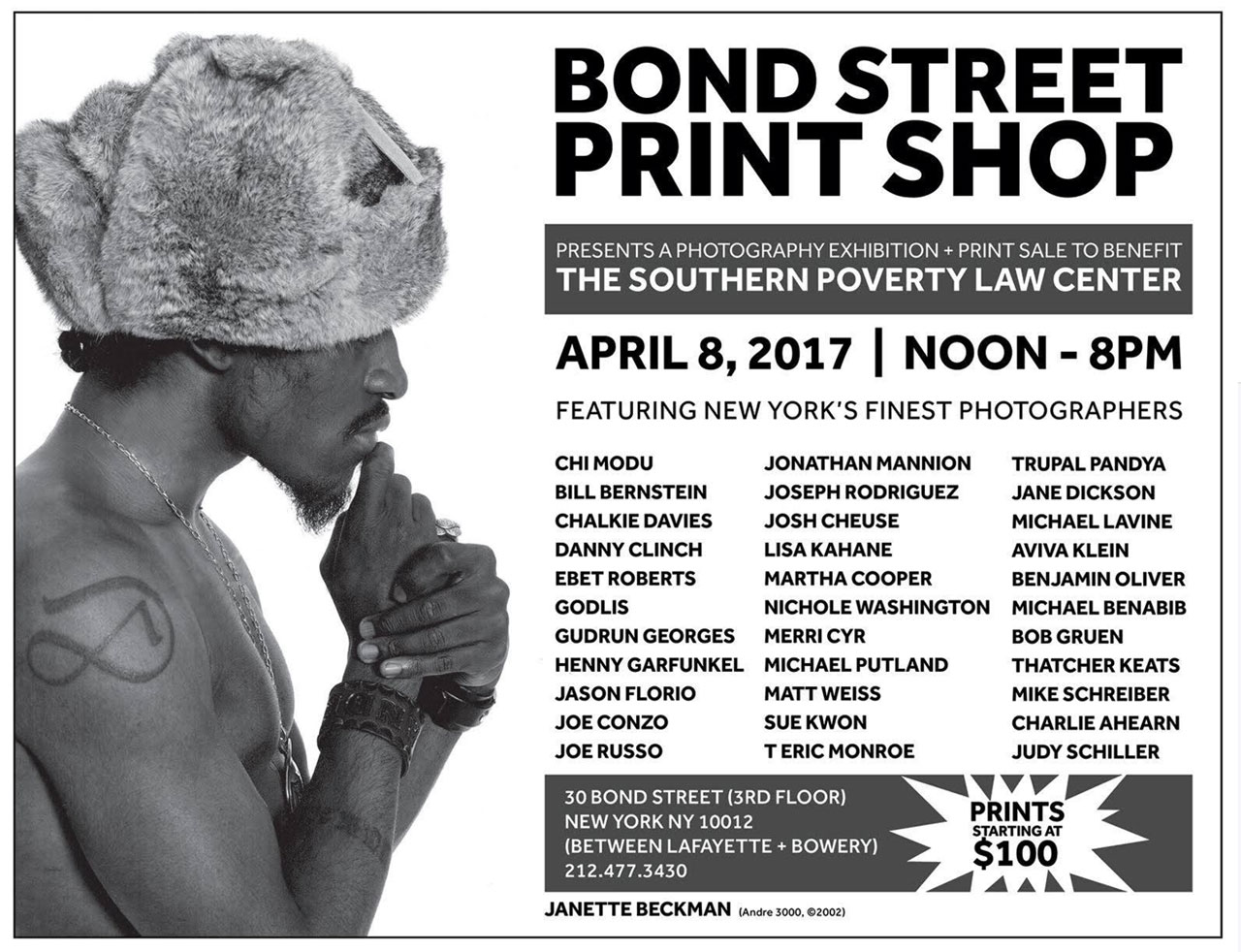 Print Sale - Bond Street Print Shop, NYC - Janette Beckman & Julie Grahame