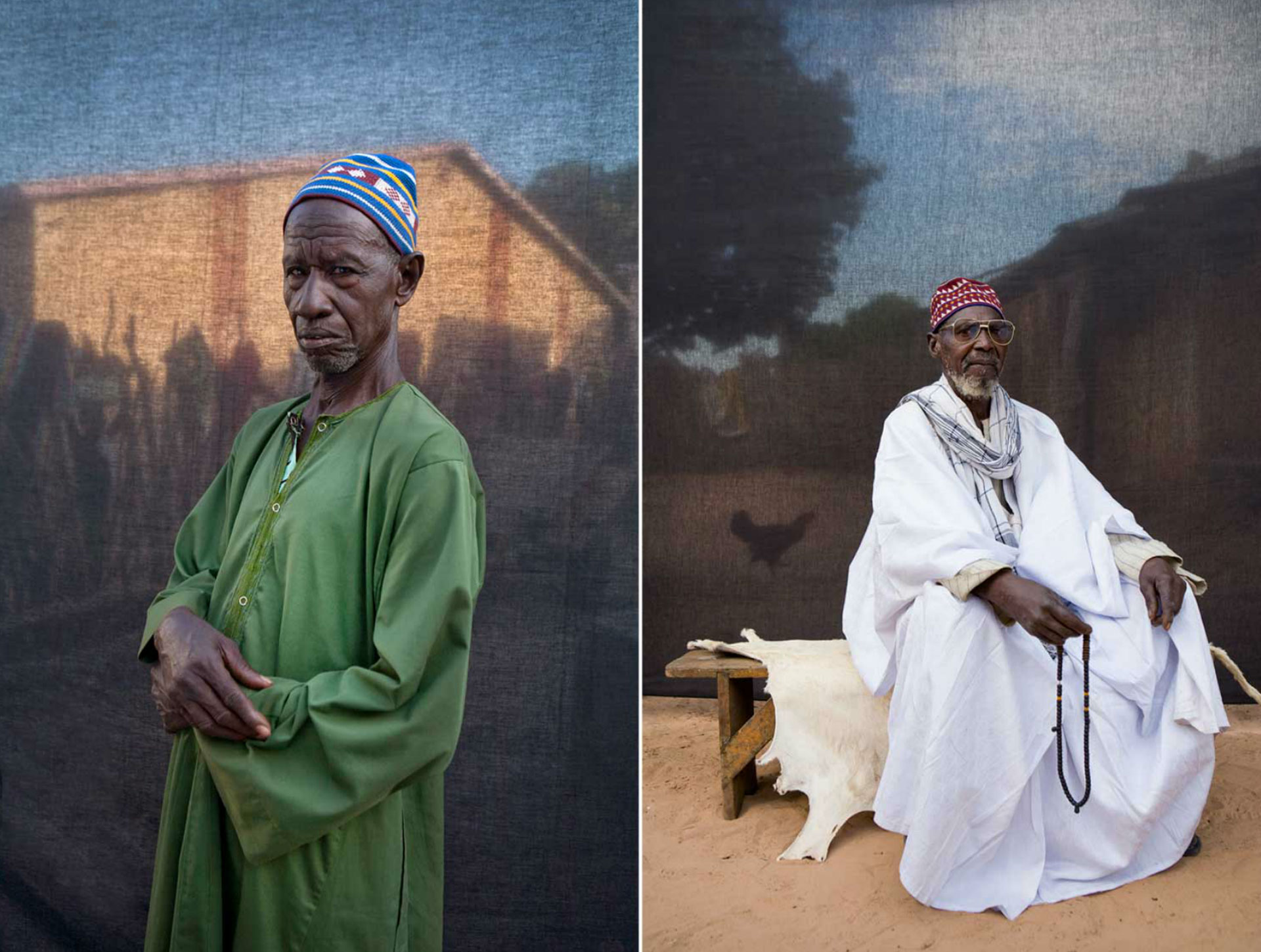 Bubu Dabbo and Chief Massaneh Cham, The Gambia, West Africa © Jason Florio