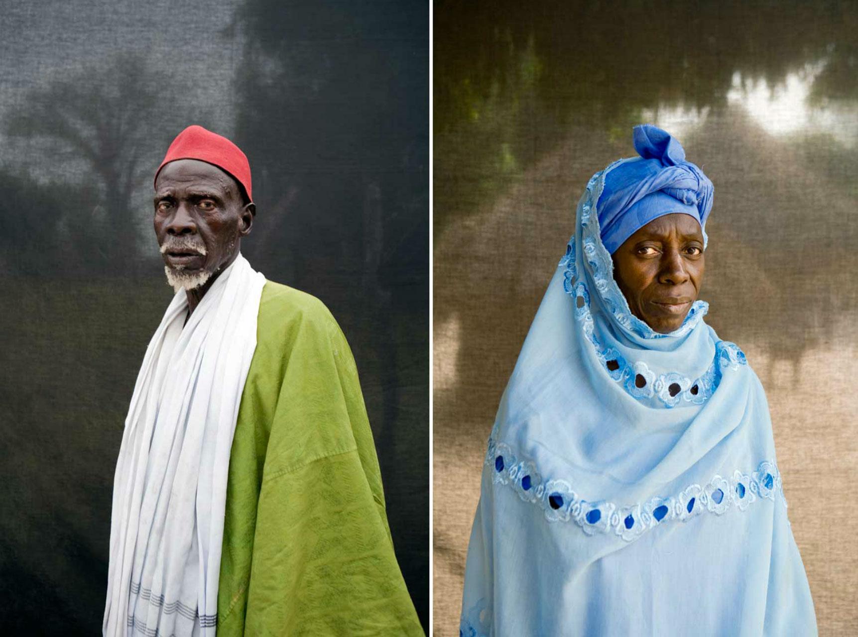 Portraits of Gambian Village Chiefs, Dam Sallah and Fatou Dansu, The Gambia, West Africa © Jason Florio