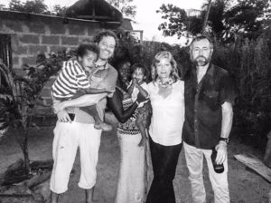 Simon, Khady (with Gulliver and Alfie), Helen, and Jason Florio - Little Baobab, Abené, Casamance, Senegal, Nov 2016