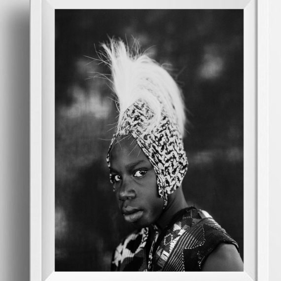 BW 'BOY IN THE HEADDRESS (COMING OF AGE CEREMONY)' Gambia, West Africa© Jason Florio