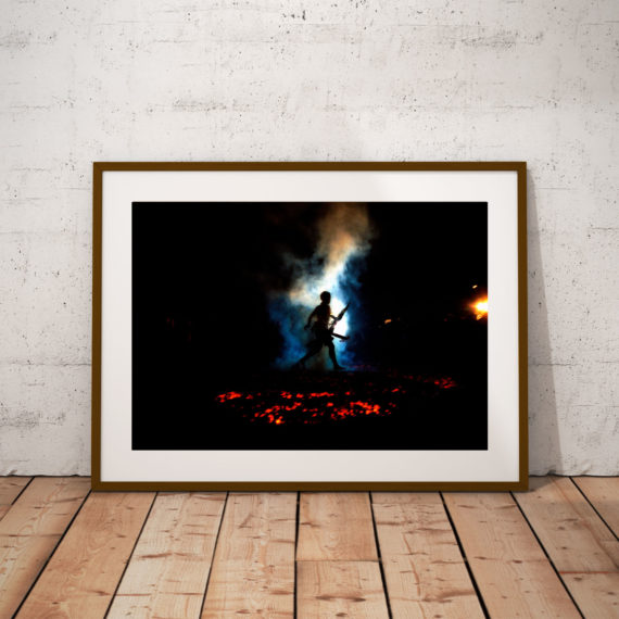 'FIRE WALKER' THAILAND © JASON FLORIO color man walks across hot coals, Vegetarian Festival