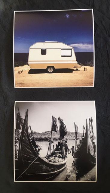 10x10 INSTAGRAM PRINTS - 'Fishing Boats, Bangladesh' © Jason Florio & 'Caravan, Malta' ©Helen Jones-Florio