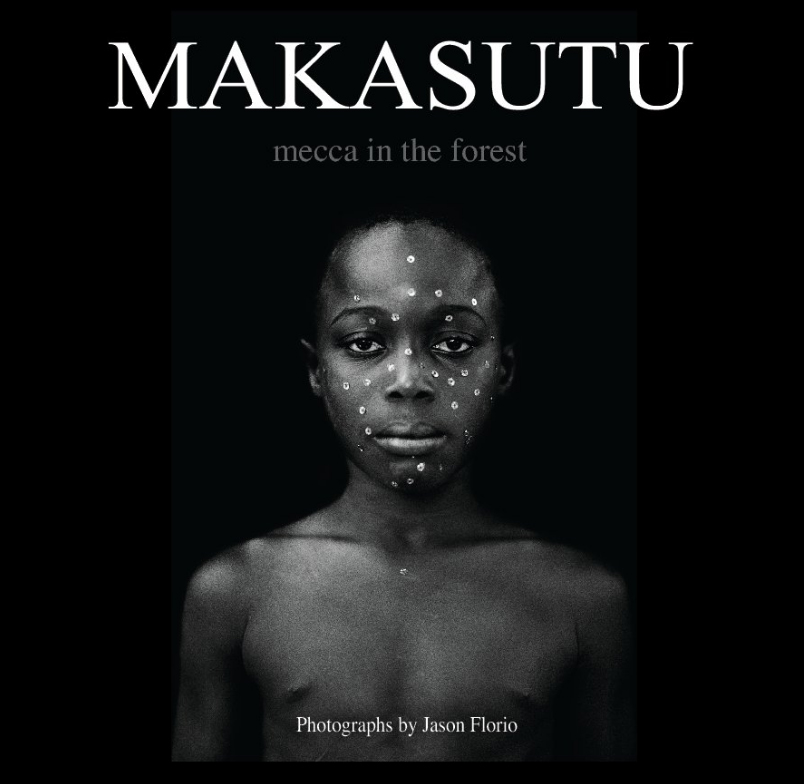 Makasutu - Jason Florio. Cover of the book of large format black and white portraits. Available to buy from Blurb Books