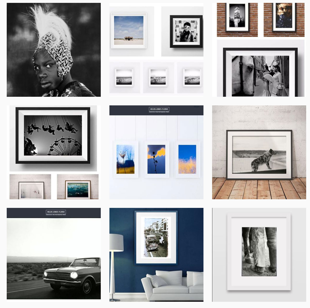 Gift Cards - just a few examples of some of the gorgeous prints we have to offer - montage of helen jones florio gallery photography prints