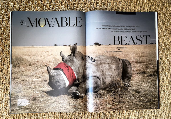 Instagram Takeover: 'Movable Beast' Rhino relocation in South Africa - image ©Jason Florio/Smithsonian Magazine