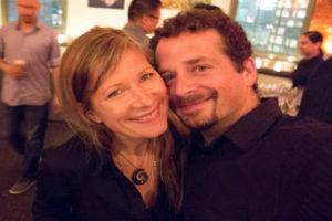 Selfie! Helen Jones-Florio & Tony Gale, PDN party, Tribeca Skyline Studios, NYC 2013