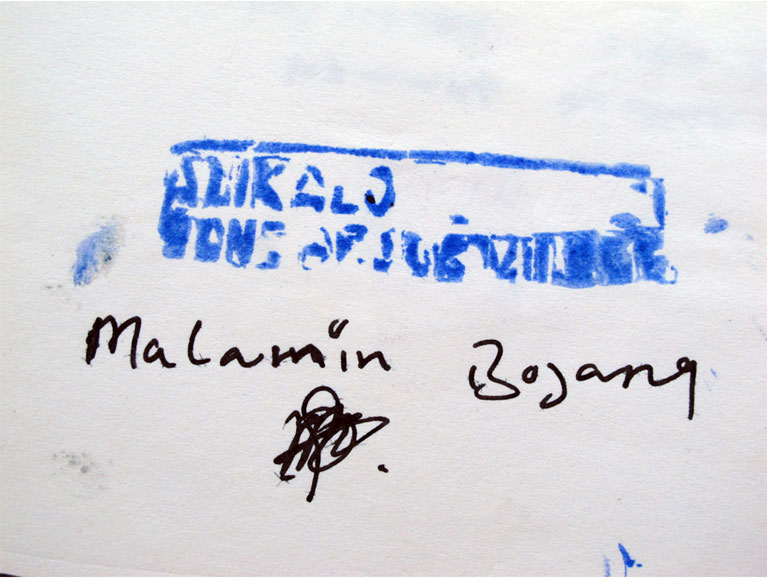 The Alkalo's official stamp. Image ©Jason Florio