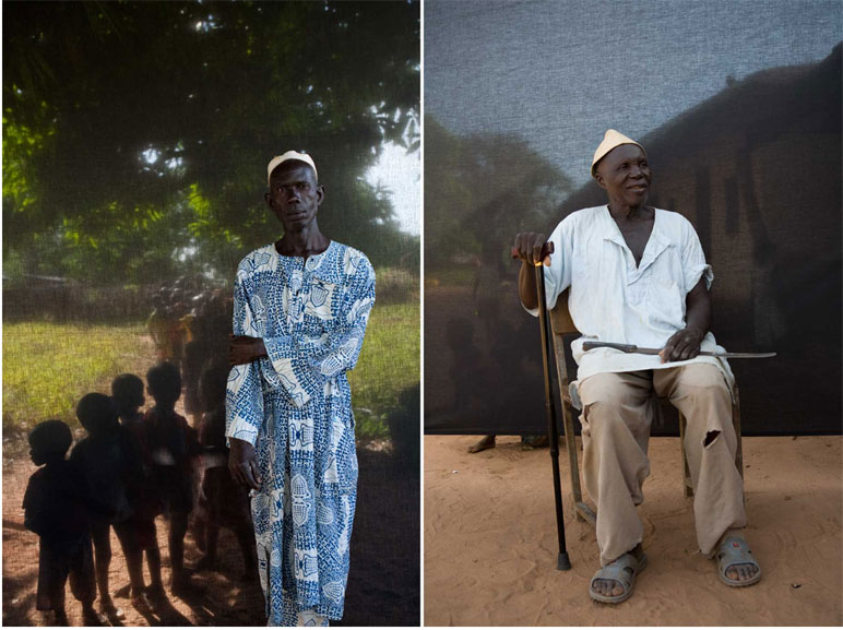 Portraits of Village Chiefs: Alkalo Landing Jammeh and Alkalo Julu Sanyang portrait ©Jason Florio 'Silafando' The Gambia, West Africa