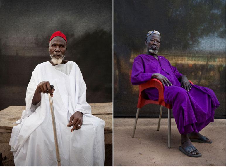 Alkalo Maduma Cessay and Alkalo Mohamadou Tonkara portrait ©Jason Florio 'Silafando' The Gambia, West Africa