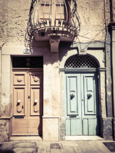 disappearingMalta - Two doors and balcony, Vjal il-Labour, Naxxar, Malta ©Helen Jones-Florio photography prints