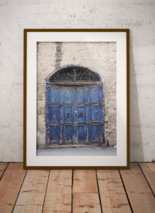 disappearingMalta - Blue Doors, vintage storefront, Birkirkara, Malta ©Helen Jones-Florio framed photography prints