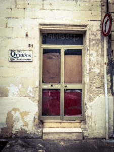disappearingMalta - Queens Dry Cleaners, Triq Guze Howard, Sliema, Malta - vintage storefront ©Helen Jones-Florio photography prints