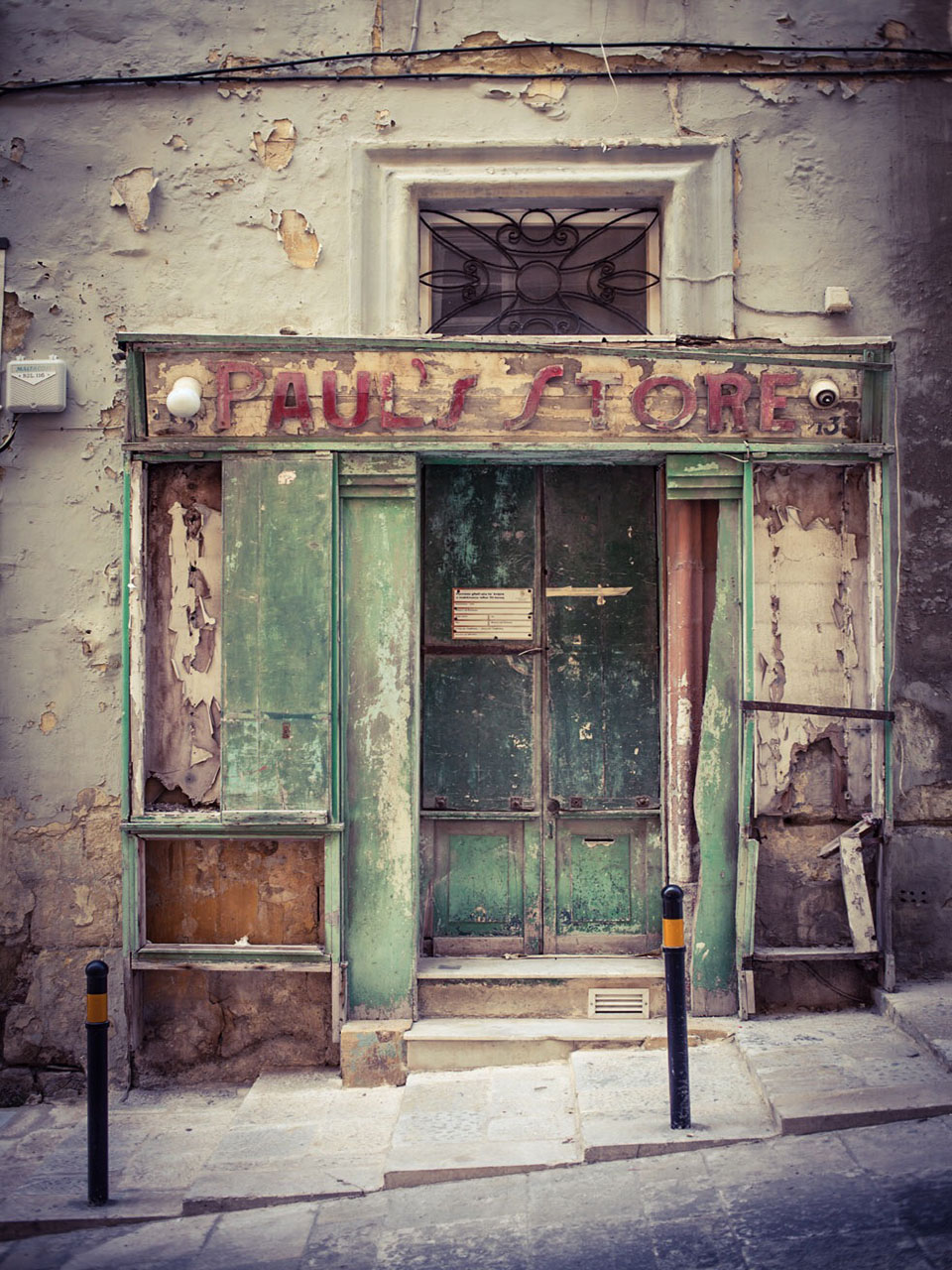 disappearingMalta - Paul's Store, vintage storefront, Valletta, Malta ©Helen Jones-Florio photography prints