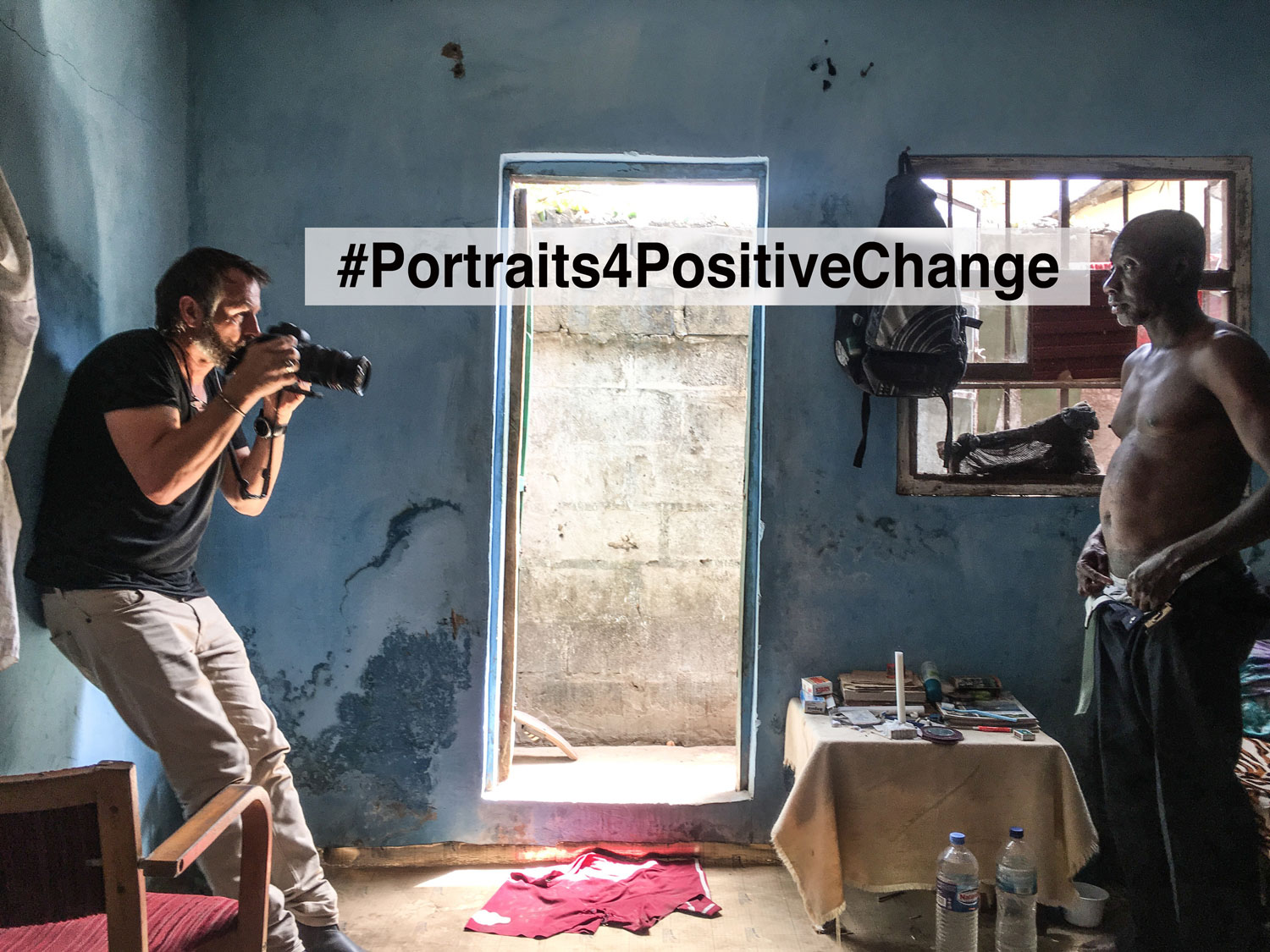 Jason Florio photographs Ballo Kanteh, ex-Mile2 prisoner, Gambia as part of #Portraits4PositiveChange