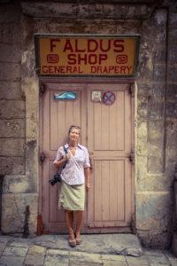 DisappearingMalta - bio image of Helen Jones-Florio, Faldus Shop, Valletta, Malta ©Jason Florio