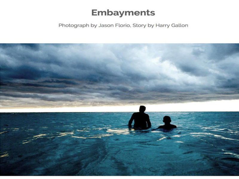 Embayments' image ©Jason Florio / Words by Harry Gallon - A Thousand Words. Men in the sea in Havana, Cuba
