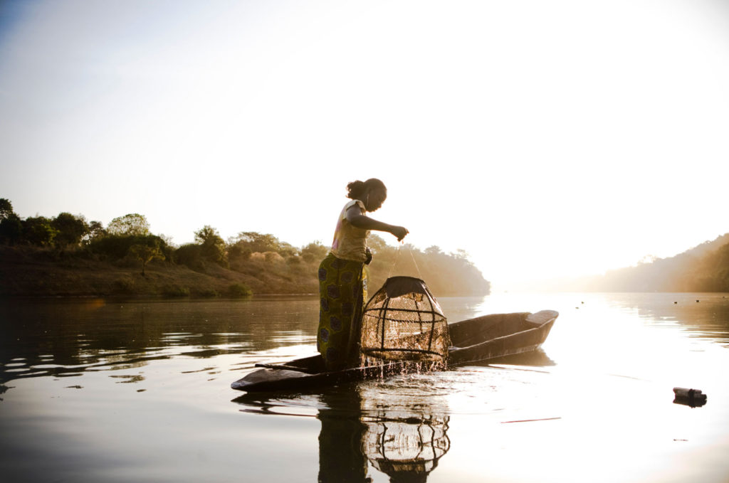 Photography Prints available from the Gallery - 'Malian Fisher Woman', River Gambia Expedition, West Africa © Jason Florio