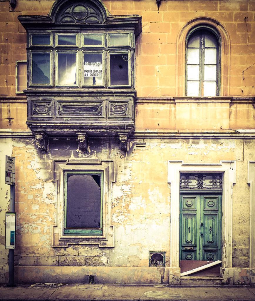 Doors - 'The Last Stop', derelict house, Sliema, Malta ©Helen Jones-Florio #DisappearingMalta architecture
