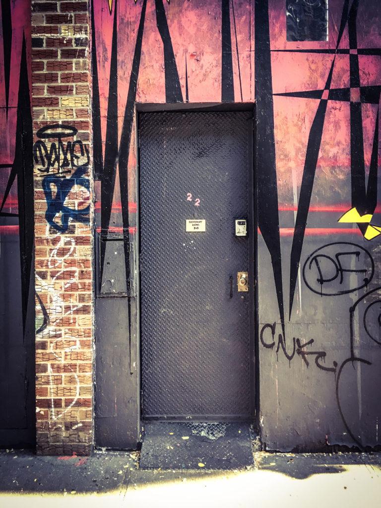 #DisappearingNewYork: Metal door, E. Second St, Manhattan, New York City. Image ©Helen Jones-Florio.