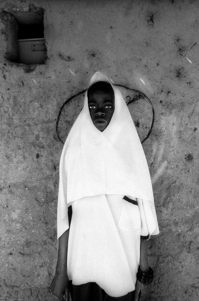 Holiday Gift Ideas - photography prints by Jason Florio - Koranic School Girl, The Gambia, West Africa. BW portrait from Makasutu series