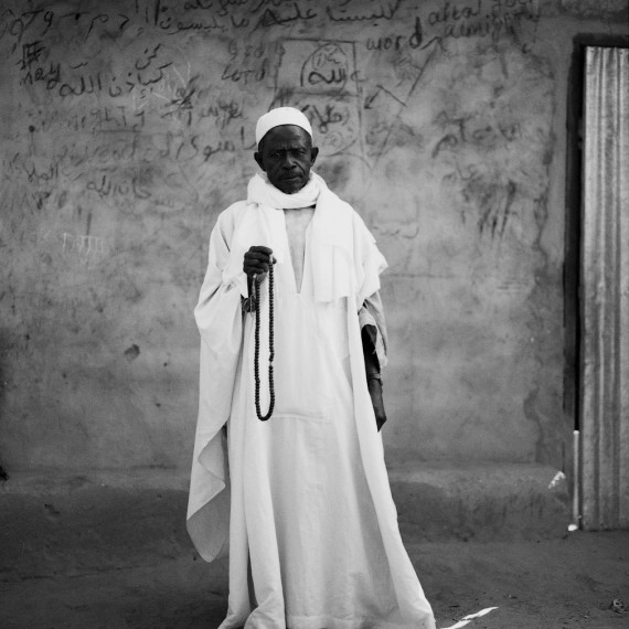Jason Florio - 'The Imam', The Gambia, West Africa. BW portrait of Koranic teacher from Makasutu series