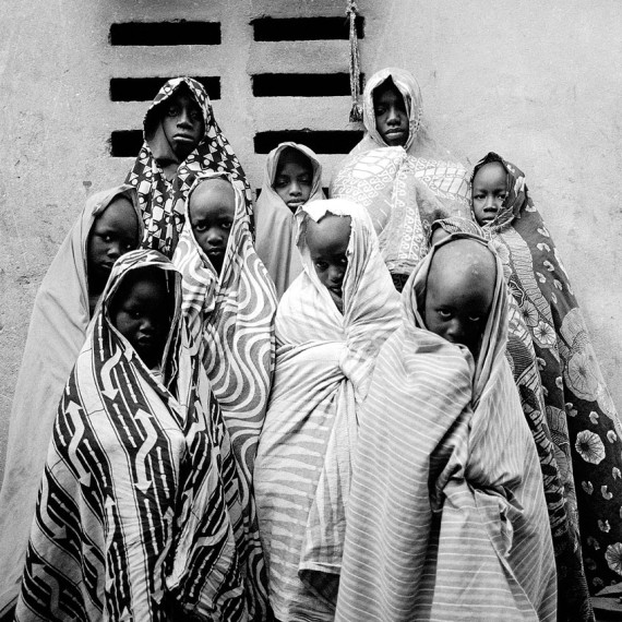 ©Jason Florio - COMING OF AGE, The Gambia, West Africa. BW portrait of a group of young boys from Makasutu series.