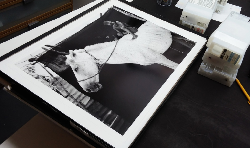 'Ismaila on his Horse, Jumpex' by Jason Florio, printed by pascal for a private collector