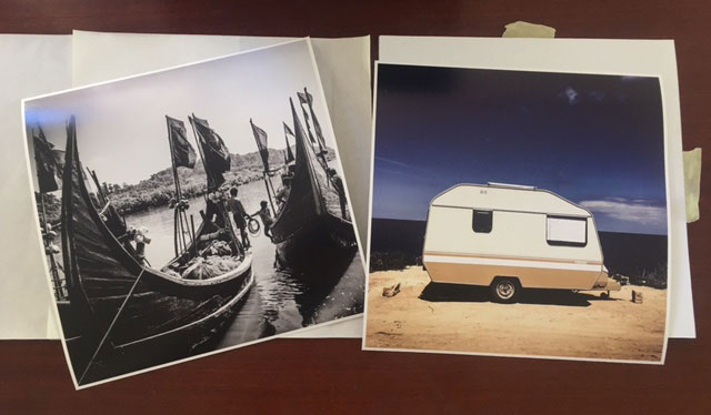 SOLD 10x10 Instagram Prints- 'Fishing Boats, Bangladesh' © Jason Florio & 'Caravan, Malta' ©Helen Jones-Florio