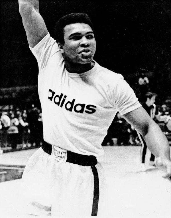 Mohammad Ali - Madison Square Garden, New York City, February 1971 black and white portrait ©Jeff Rothstein