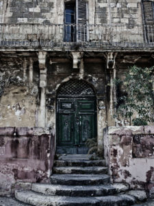 #disappearingMalta - Grand vintage door and balcony, Pieta, Malta©Helen Jones-Florio photography prints