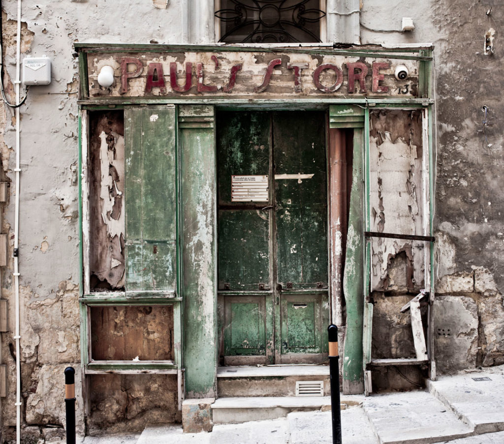 disappearingMalta - vintage strorefront, Paul's Store, Valletta, Malta ©Helen Jones-Florio photography prints