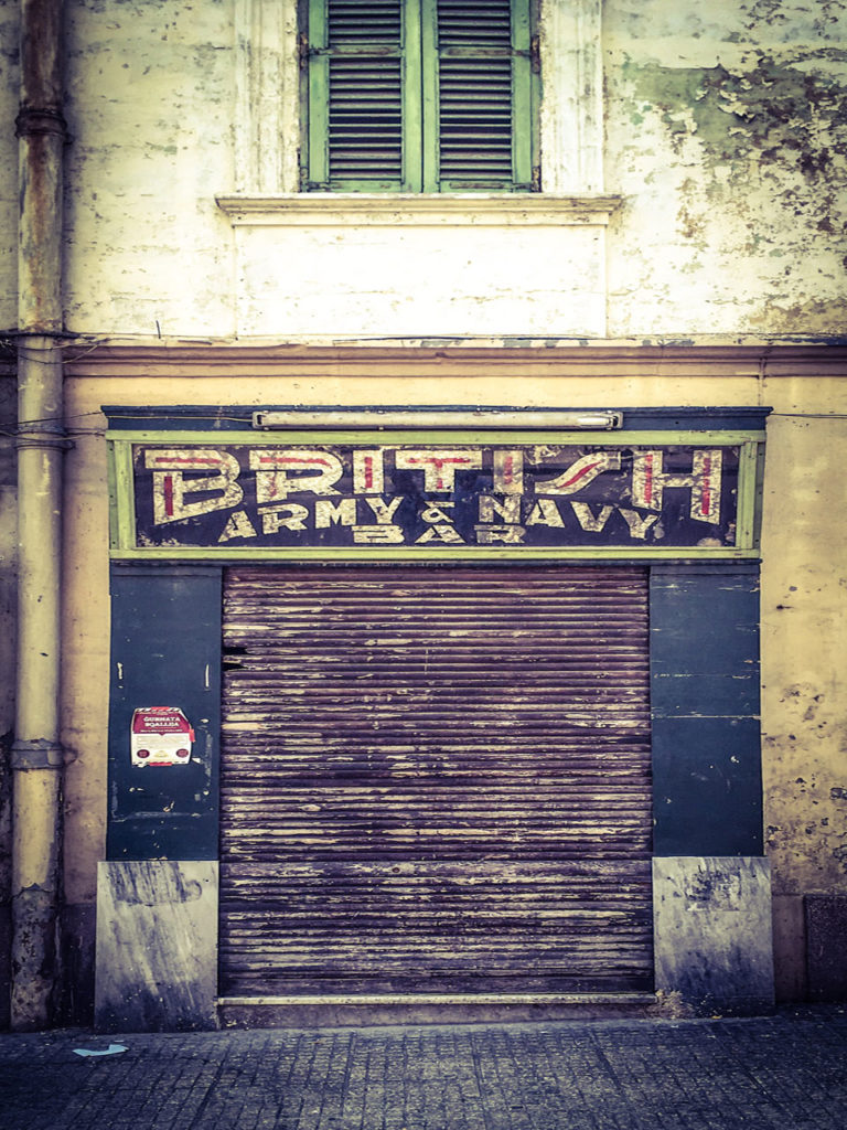 disappearingMalta - British Army & Navy Bar, retro storefront, Birkirkara,, Malta ©Helen Jones-Florio photography prints