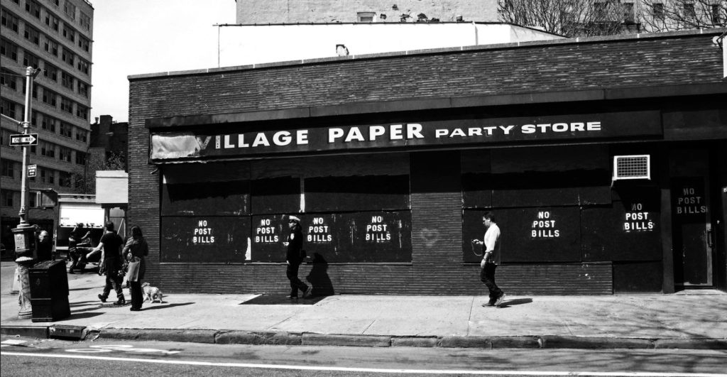 #DisappearingNewYork: The post-fire 'Village Papery Party Store', Greenwich Village, NYC ©Helen Jones-Florio, 2