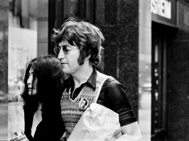 Yoko Ono and John Lennon, walking in the street, New York City ©Jeff Rothstein photography