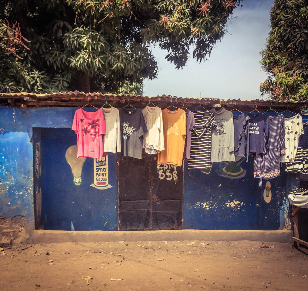 Gambia Doors - 'Fukajai'…secondhand clothes, Serrekunda, The Gambia, West Africa. Image ©Helen Jones-Florio storefronts