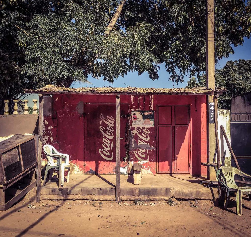 Gambia Doors - Coca Cola shopfront, Bakau, The Gambia, West Africa. Image ©Helen Jones-Florio storefronts