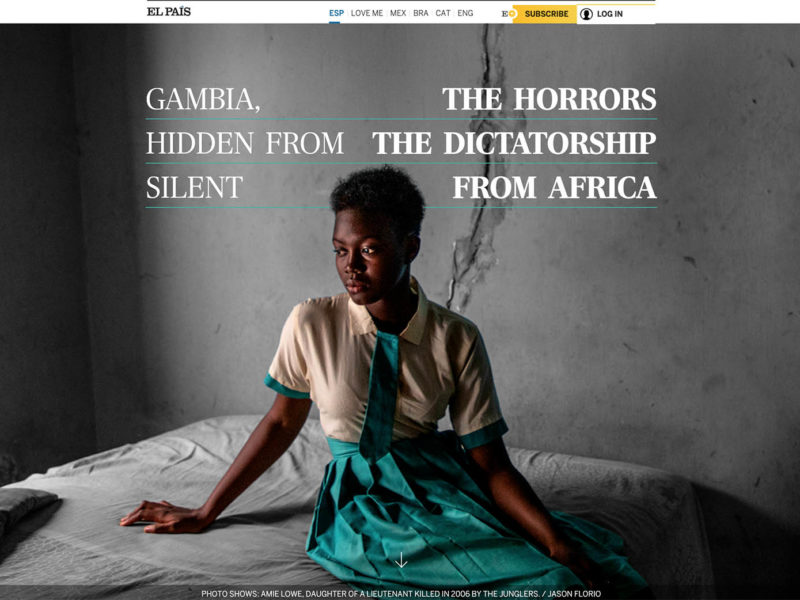 EL PAIS - 'Gambia, The Hidden Horrors Of Africa's Silent Dictatorship' Images ©Jason Florio / Helen Jones-Florio